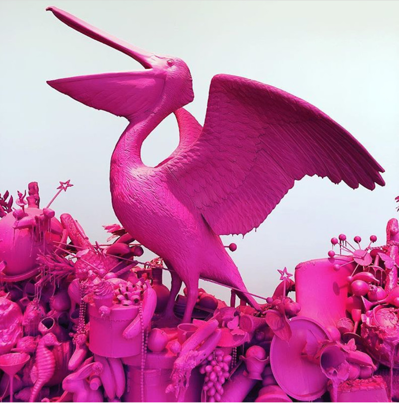 Carlos Betancourt, (detail) Let Them Feel Pink, 2012
