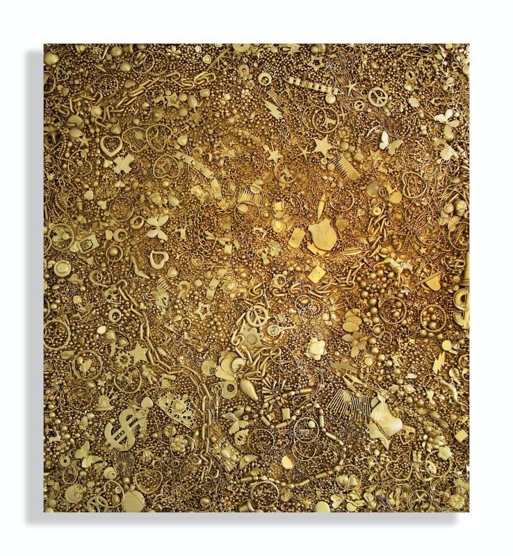 Carlos Betancourt, Disposable Memories I, (IV, gold), 2013