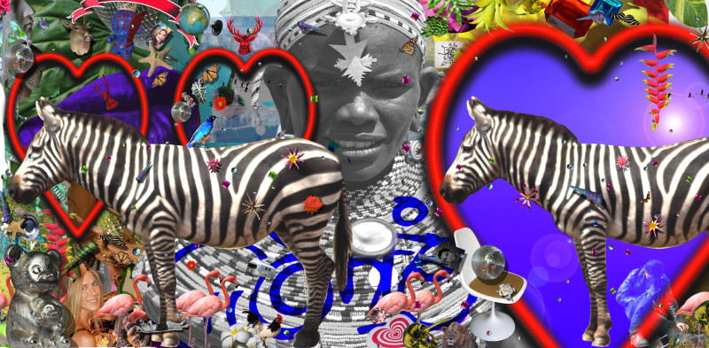 Carlos Betancourt, Of Kenya and Candies, II Partial Mural, 2010, 2010