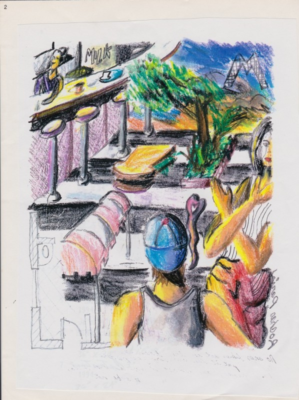 Carlos Betancourt, AAA Imperfect Utopia Lincoln Road Sketches , 1980