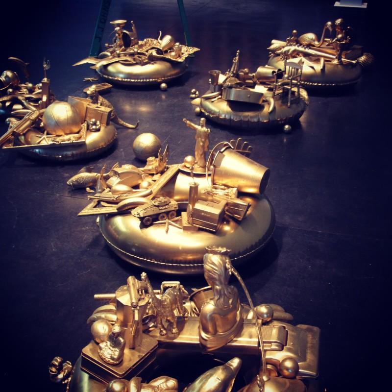 Carlos Betancourt, Golden Pond Wishes ( J Johnson Gallery exhibit), 2014-17