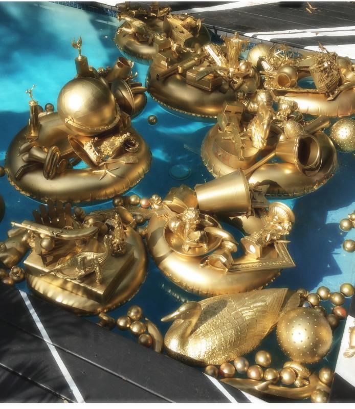 Carlos Betancourt, Golden Pond Wishes, (original site), 2014-2017