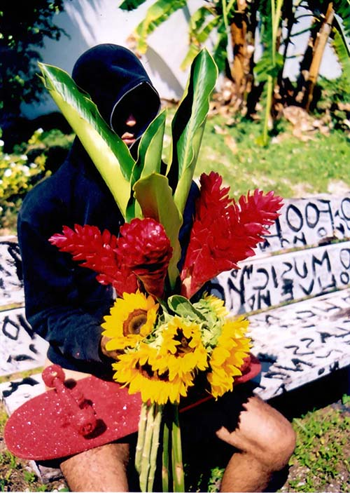 Carlos Betancourt, Interventions in Wynwood, Hood on the Hood III with Sunflowers, 2003, 2003
