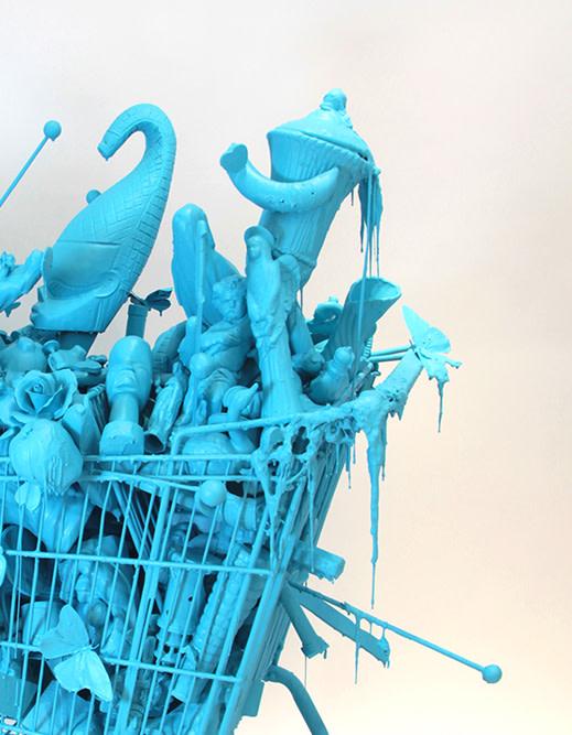 Carlos Betancourt, (Detail) Shopping Cart Atomic, 2011