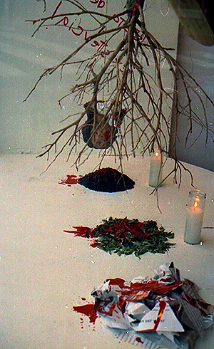 Carlos Betancourt, Untitled (food installation) detail , 1992-1994