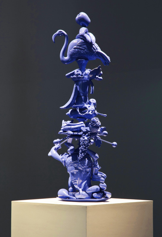 Carlos Betancourt in collaboration with Alberto Latorre, Totem Atomic, Bronze (video at private collection), 2011