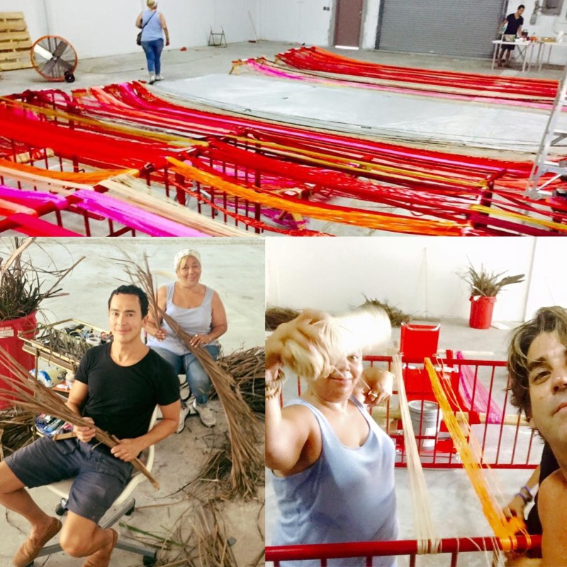 Carlos Betancourt, Images of Construction and Rehearsal; Art Processional Faena: The Pelican Passage, Tide by Side, site specific commission, 2016