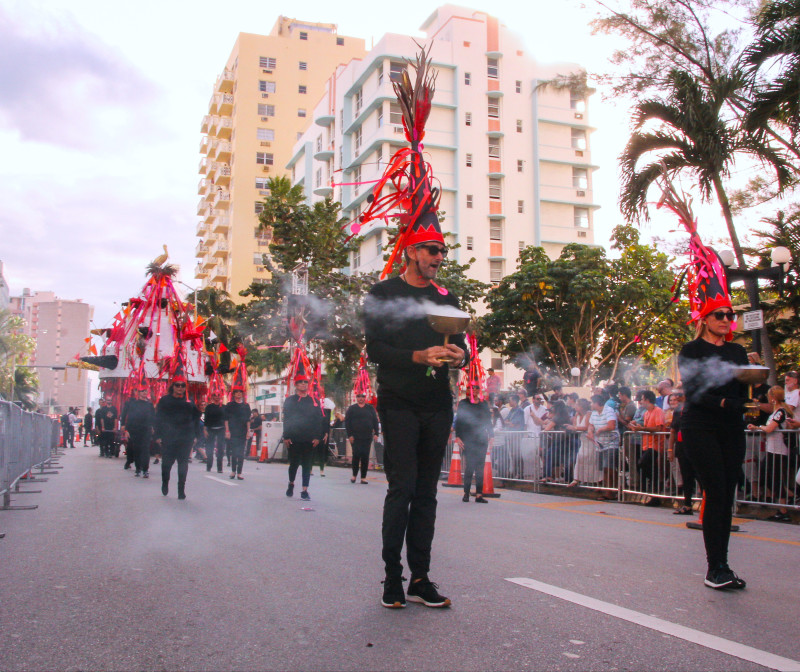 Carlos Betancourt, Art Processional at Faena: The Pelican Passage, Tide By Side, (site specific commission) , 2016