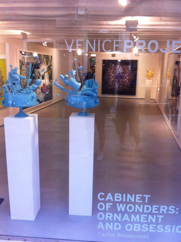 Carlos Betancourt in collaboration with Alberto Latorre, (exhibit Venice Projects, Italy) Cake Atomics, 2013