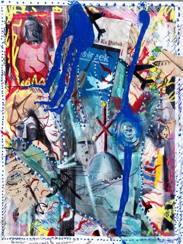 Carlos Betancourt, Photo collage w masks, 1980