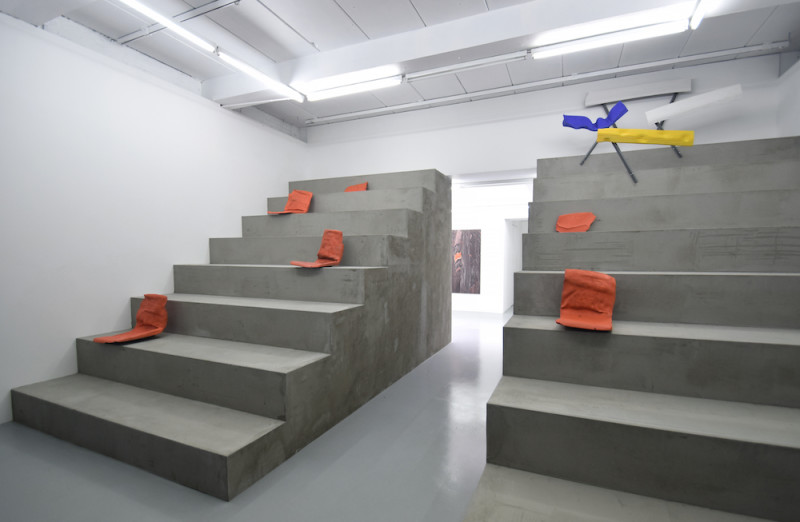 Marcin Dudek, Steps and Marches installation view, Harlan Levey Projects, 2017