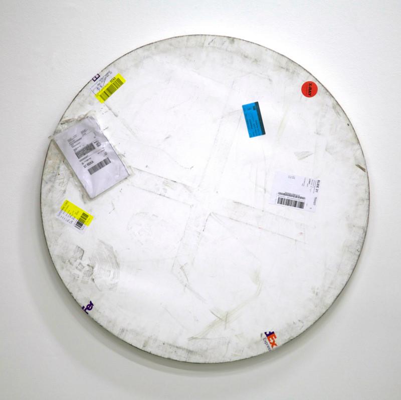 KARIN SANDER, Mailed Painting 156, 2014