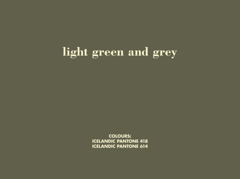 BIRGIR ANDRÉSSON, Grey Colours in the Work of William Morris (light green and grey), 2006