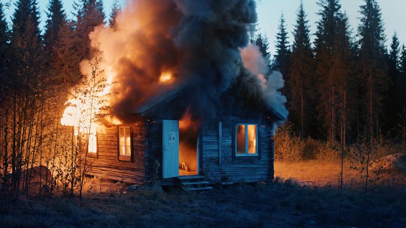 RAGNAR KJARTANSSON, Scenes From Western Culture, Burning House, 2015