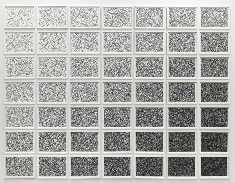 IGNACIO URIARTE, Linealstrichstrukturverlaufmatrix (7x7), 2012