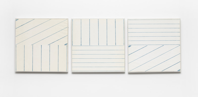 KRISTJÁN GUÐMUNDSSON, 6 x 7 Equal Time Lines, 1974