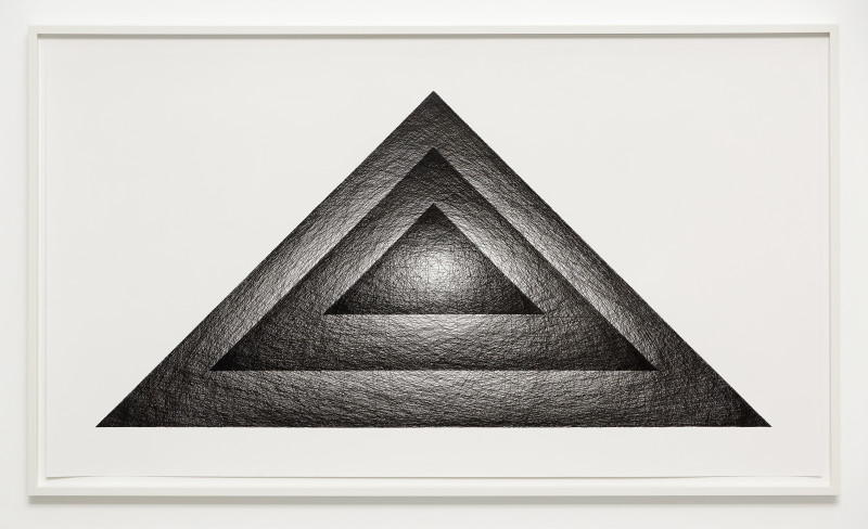 IGNACIO URIARTE, Three superposed triangles, 2018