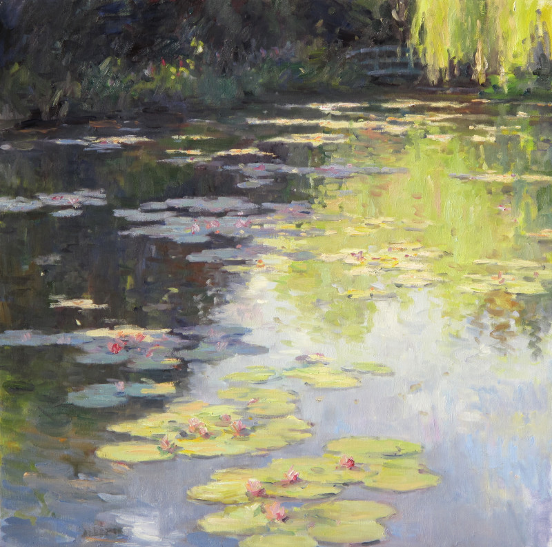 Edward Noott RBSA, Lilies at Giverny
