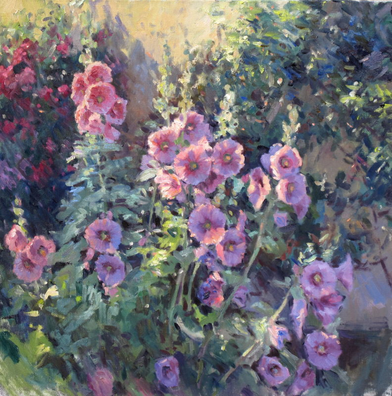 Edward Noott RBSA, Hollyhocks