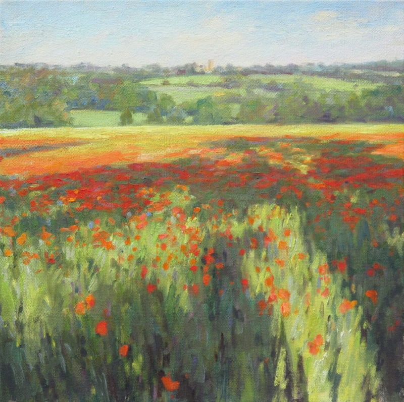 Edward Noott RBSA, Poppy field near Stow