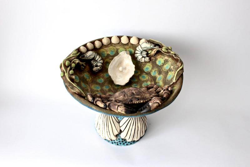 Lesley Anne Greene, Fruits de Mer Bowl on Pedestal