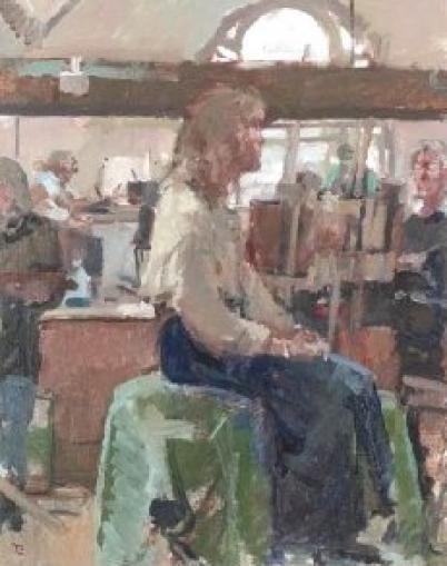 Tom Coates PPRBA NEAC, Art workshop, Newbury