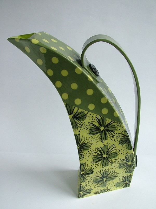 Hilary Coole, Spotty daisy jug - green