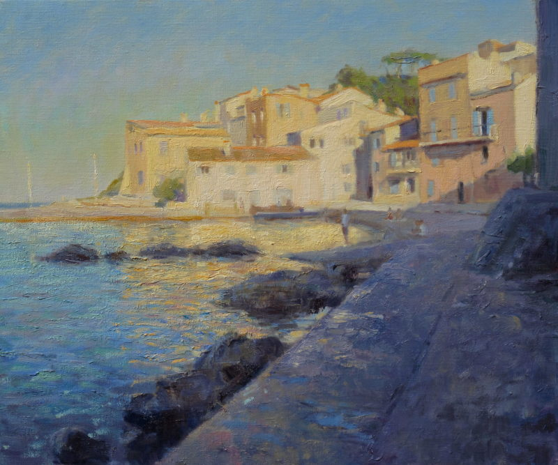 Edward Noott RBSA, Golden light, St Tropez