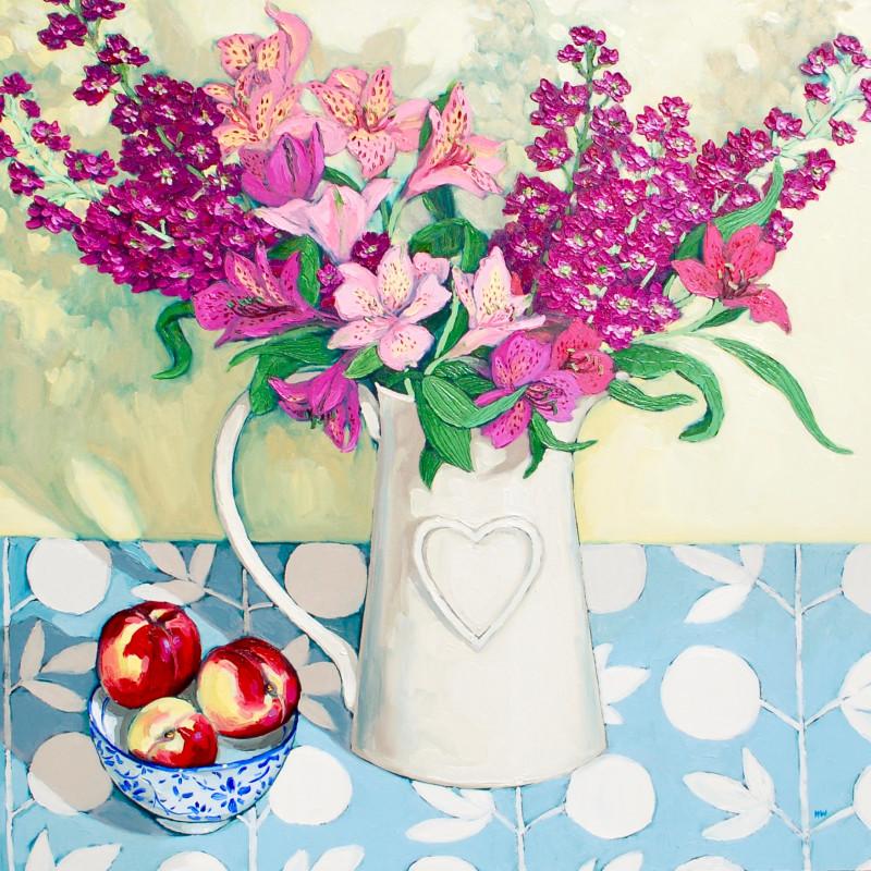 Halima Washington-Dixon, March flowers with nectarines