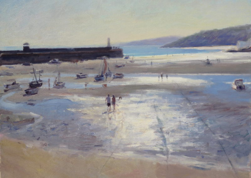 Edward Noott RBSA, Low tide, St Ives