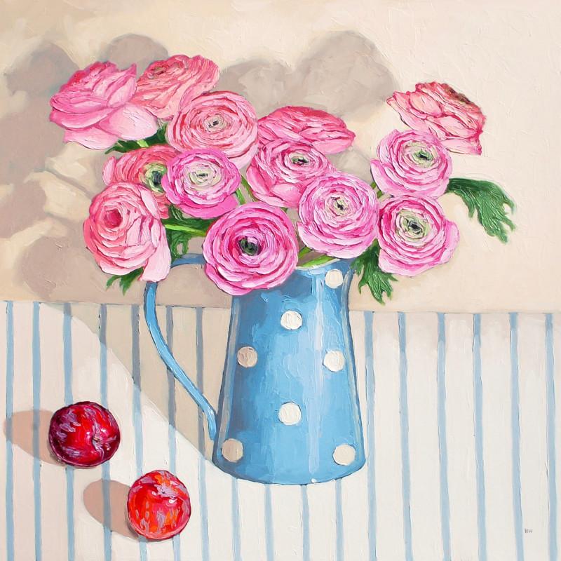 Halima Washington-Dixon, Pale pink bouquet with plums