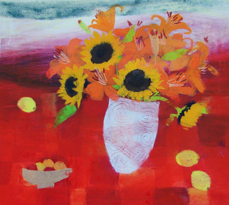 Caroline Bailey RSW, Flowers on a Misty Day