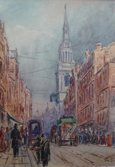 A P Collis, London Street Scene