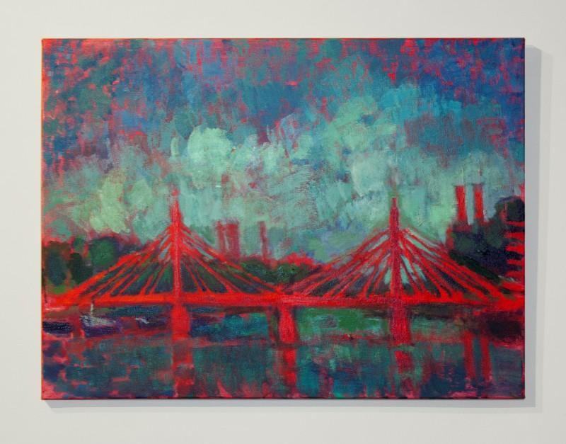 Sophie Birdwood, Albert Bridge with teal sky