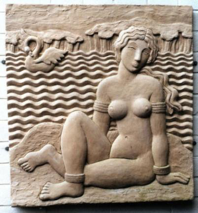 Michael Grevatte, Leda and swan relief