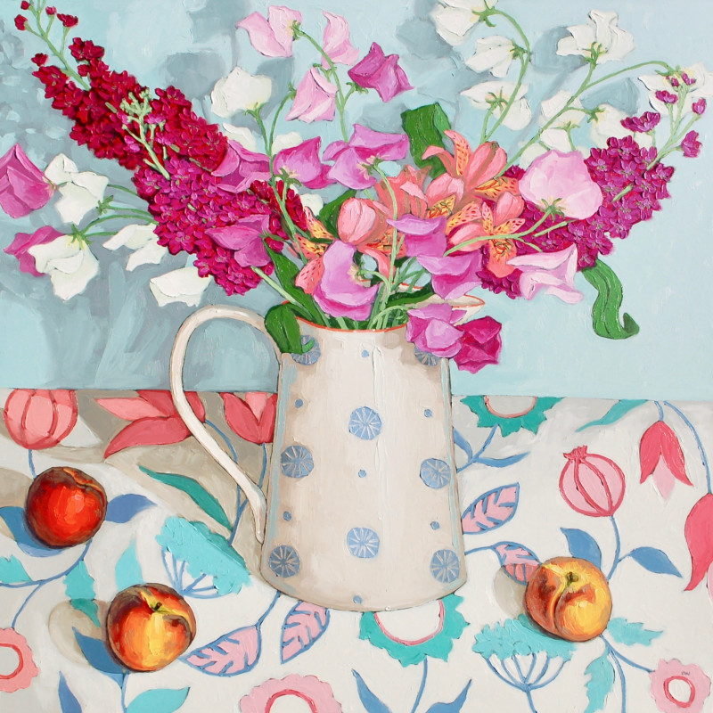 Halima Washington-Dixon, Mixed bouquet with peaches