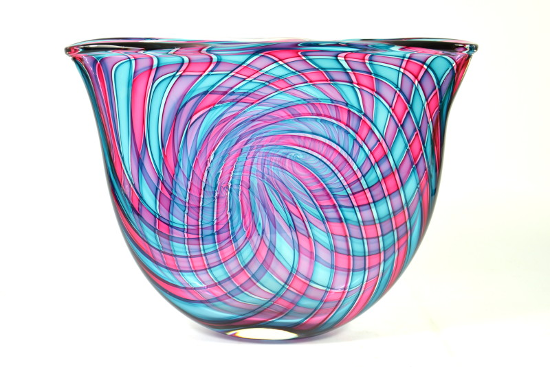 Bob Crooks, Pi bowl - aqua & ruby