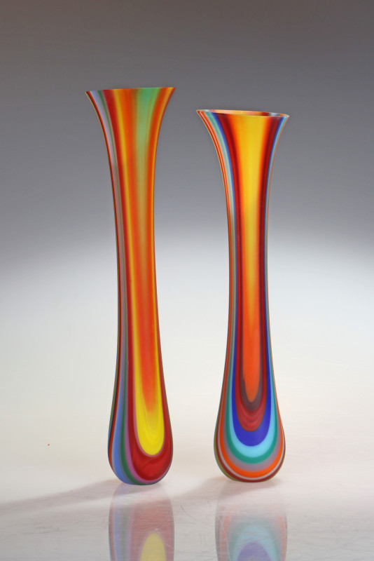 Ruth Shelley, Indian Intarsia Vessel stripes mini