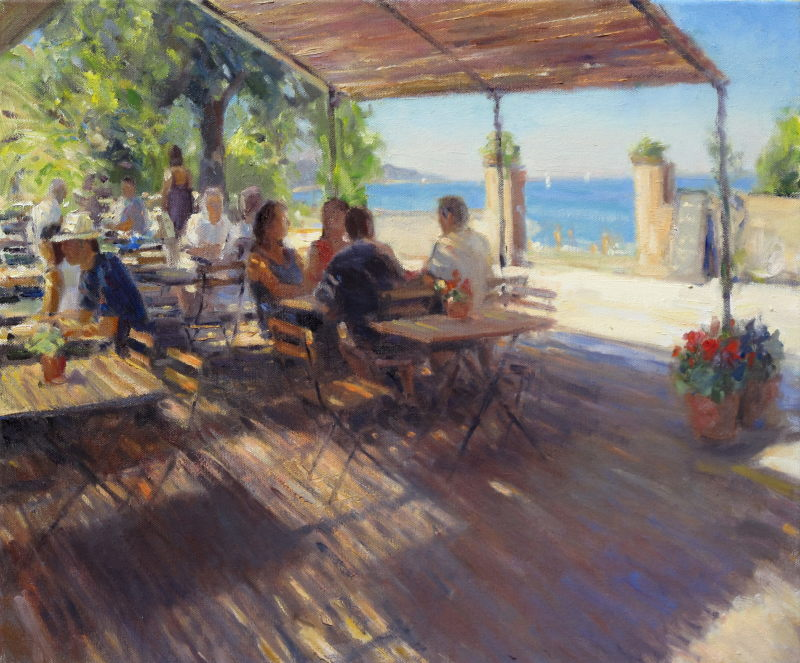 Edward Noott RBSA, Lunch on the beach