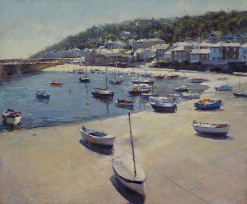 Edward Noott RBSA, Mousehole Harbour