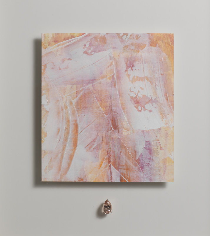 Lisa Sharpe & Doris Hangartner, Essence of Morganite II, White Veils on Morganite
