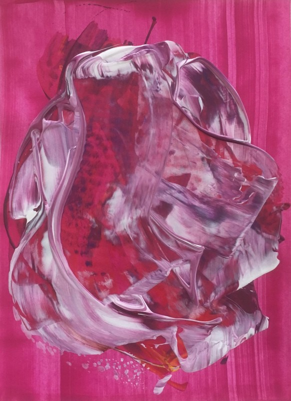 Lisa Sharpe Paintings, Swirling Magenta