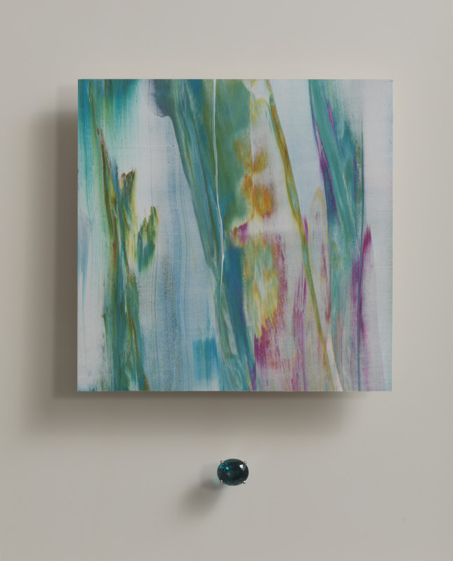 Lisa Sharpe & Doris Hangartner, Essence of Indicolite I - Turquoises, whites, pinks