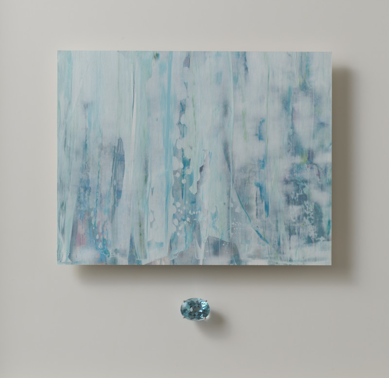 Lisa Sharpe & Doris Hangartner, Essence of Aquamarine - Silk Waterfalls
