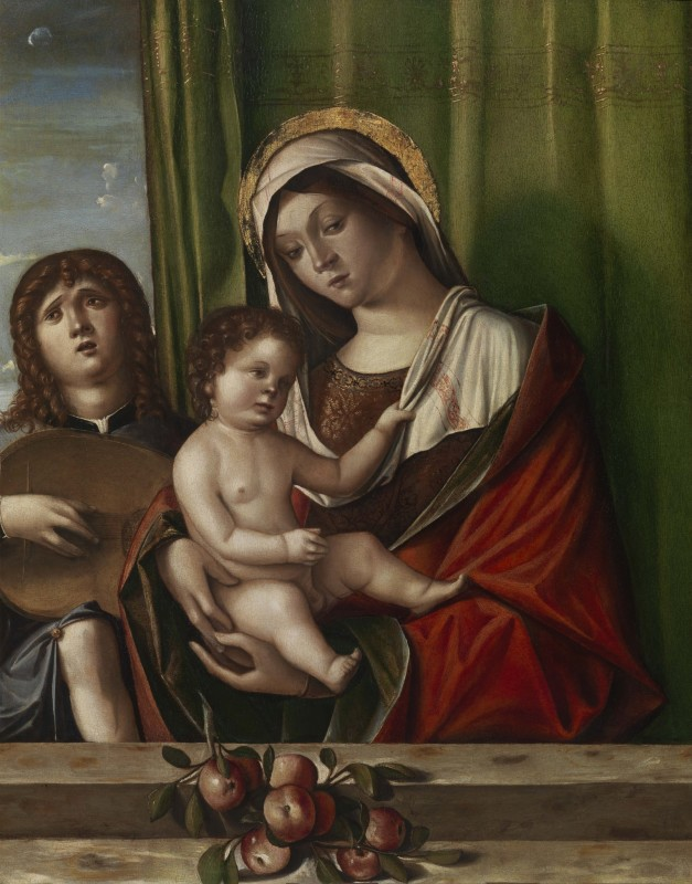 Nicolò Rondinelli, Madonna and Child with Angel Playing a Lute