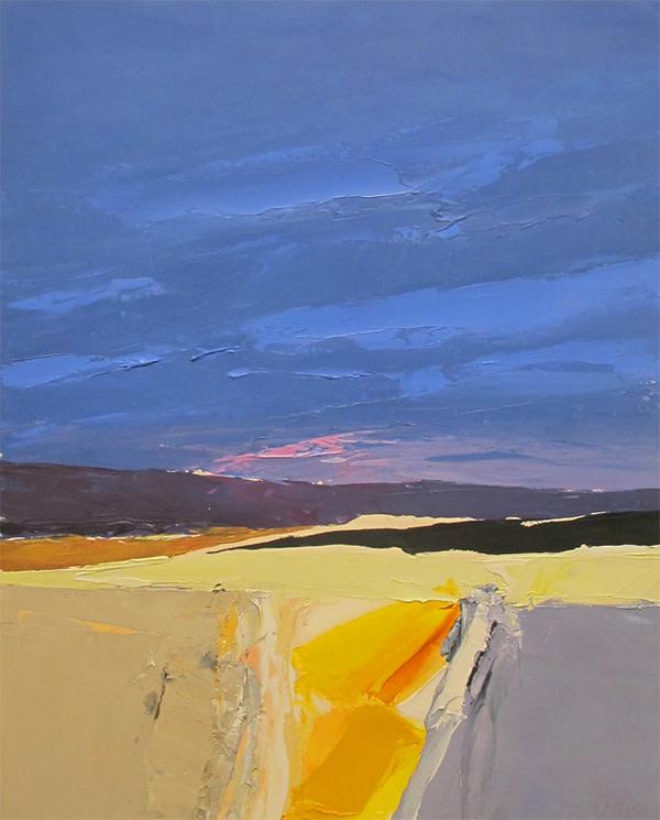 Donald Hamilton Fraser, Blue, Yellow & Grey Landscape