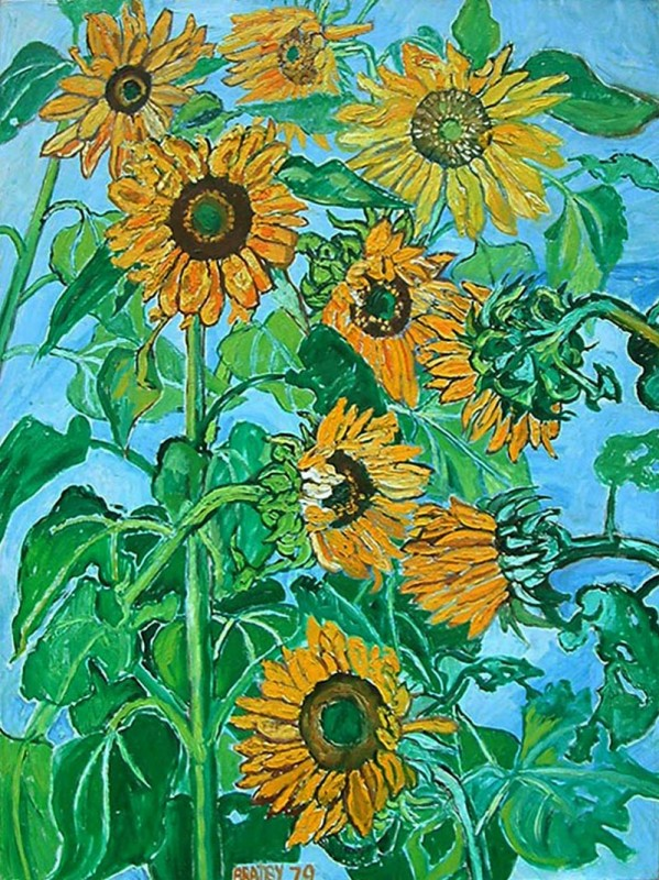 John Bratby, Sunflowers II