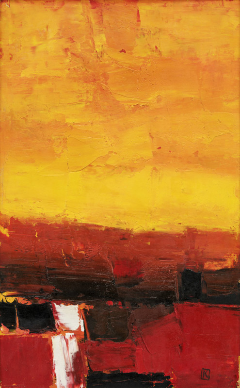 Peter Kinley, Vertical Landscape, Yellow and Red