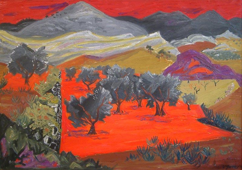 Frederick Gore, Olive Trees Les Baux