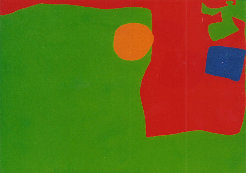 Patrick Heron, Emerald with Reds and Cerulean